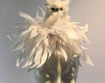 White owl Fascinator- Diner en Blanc- Bird Fascinator- Owl Fascinator- Harry- Fascinator NYC- Owl - Derby- Cocktail hat