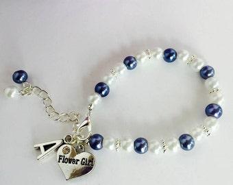Personalized Flower Girl Gift, Flower Girl Bracelet, Flower Girl Jewelry, Gifts for Flower Girls, Flower Girl, Flower Girl Jewellery