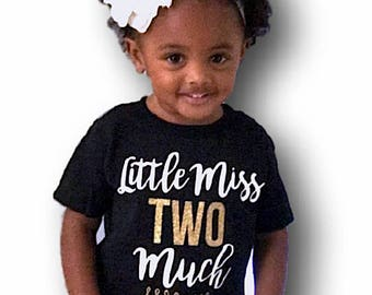 2nd Birthday Outfit Girl, Two Year Old Birthday Girl Clothing, Clothes, Birthday Shirt, Second Birthday Girl, Girl Gift - SHIRT ONLY