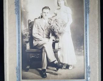Vintage Bride & Groom Photo Circa 1920