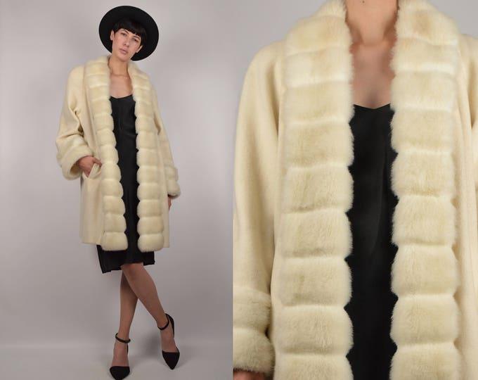 Vintage Wool + Faux Fur Coat