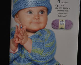 Small Comforts - Baby Sweaters, booties, blanket - Crochet & Knitting Pattern Booklet