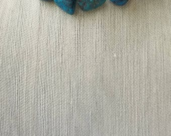 Genuine Turquoise Nugget Necklace, Natural Turquoise, Statement Necklace