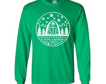 St Louis Christmas Shirt - STL City Shirt by Benton Park Prints, St Louis, Saint Louis, STL