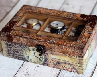 Men Gift Box, Watch Storage Box, Men Watch Box, Watch Storage Gift, Wooden Watch Box, Groomsmen Gift Box
