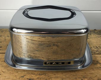 1950s Chrome Portable Cake Carrier by Lincoln BeautyWare