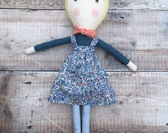 Cloth Doll, Rag Doll, Fabric Doll, Heirloom Doll, Girls Doll, Gifts for Girls, OOAK Doll, Birthday Gift, Handmade Doll - Arela