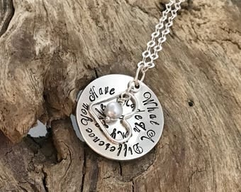 What a difference you have made | Sterling Silver | Appreciation Jewelry | Teacher Jewelry |  Thank you necklace | Gift for Mentor