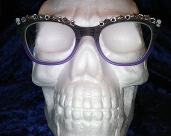 Cameo Swarovski Crystal - Eyes Spec Trim vintage inspired clip on eyeglasses trim handmade