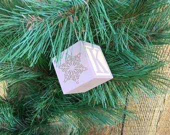 Baby's First Christmas Gift,Baby Block Christmas Ornament,Baby's First Christmas Block,Baby Block Gift,Wooden Baby Block,Baby Block Ornament