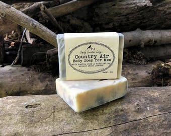 Country Air Soap for Men - Vegan with Essential Oils