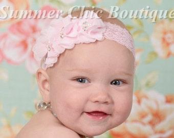 Light Pink Baby Headband, Infant Headband, Baby Headband, Newborn Headband, Baby Headband, Toddler Headband, Pink Headband