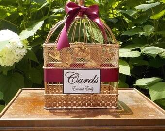 Bridal Shower Card Box Birdcage Rose Gold, Wedding Bird Cage, Wedding Card Holder, Wedding Cards, Shower Cards, Bridal Shower Cards