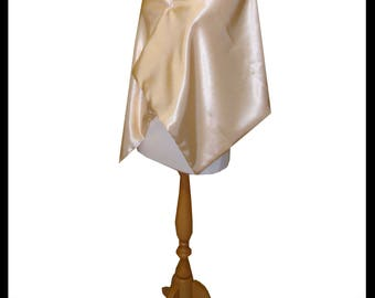 Beautiful Shimmer Satin Wrap lined with Shimmer Satin. Ideal for a Summer Wedding, HandFasting. Bridesmaids Made to Measure. Lots of colours