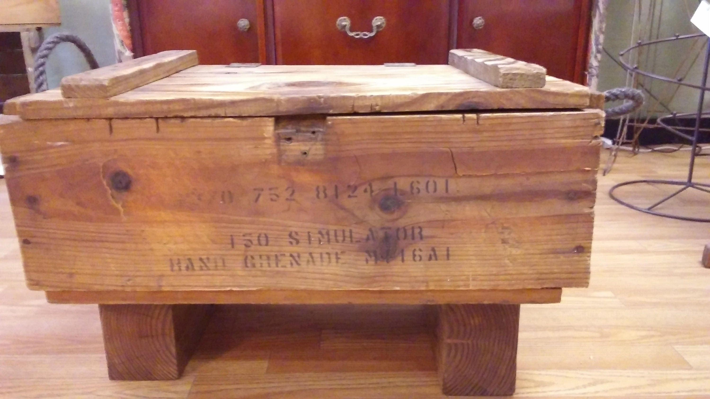 SOLD OUT Upcycled Wooden Ammo Crate Coffee Table Rustic Home