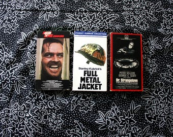 Stanely Kubrick VHS Movie Set. The Shining, Full Metal Jacket, Dr. Strangelove 3 VHS Tape Set. Classic Stanley Kubrick Movie Collection