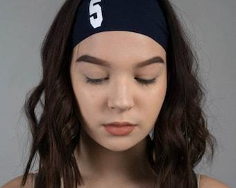 Custom Printed Number Headbands - Team Number Headbands - Athletic School Custom No Minimum! - NonSlip Sports Team Headbands for School - ##