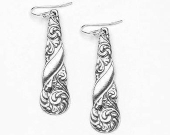 "Spoon Earrings: ""Gloria"" by Silver Spoon Jewelry"