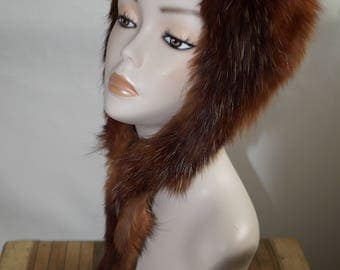 1960s mink Vintage fur hat