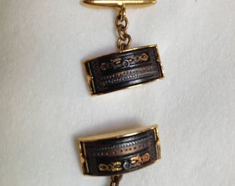 Damascene cufflinks.  Made in Spain in early 1970's using ancient process