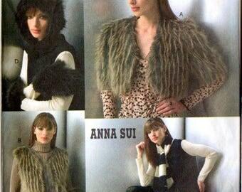 Vogue V7950 Anna Sui Designer Jacket, Vest, Hat, Mittens and Leg Warmers Sewing Pattern