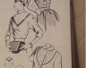 Vintage Mail Order Pattern 2569 Size 18 Blouses Bust 36 Hips 39 Blouse Variations