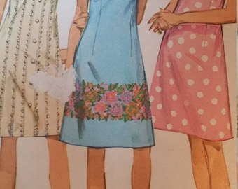 Vintage Simplicity Sewing Pattern Size 13 One-Piece Dress