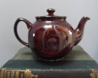 Vintage 'Brown Betty' Teapot - Made in England by Sadler