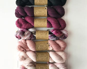 Hand-dyed Yarn Kit - Continual Feast Faded Kit - Hand-painted Yarn - Merino Wool Yarn - Indie-dyed Yarn