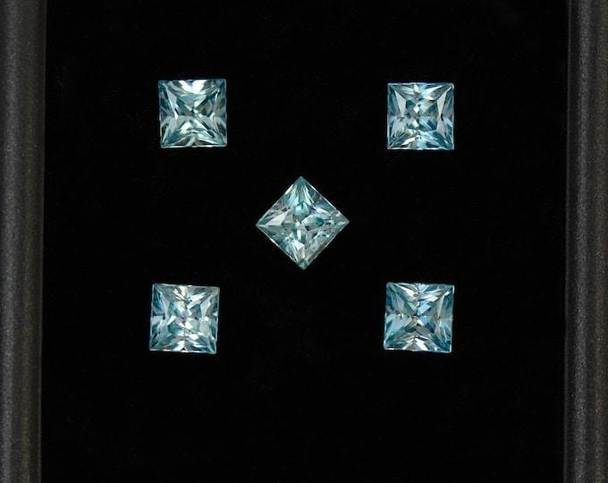 UPRISING SALE! Brilliant Ice Blue Zircon Gemstone Set from Cambodia 2.19 tcw.