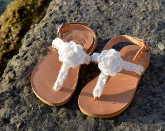 Girls sandals, Girls luxury sandals, Baby wedding sandals, Baptism sandals, Bridesmaids sandals, Flower girl shoes, Girls pearls sandals