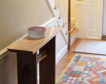 Minimalist Console Table/ Live Edge Stretcher: Modern Entry Table, Narrow  Hall Table