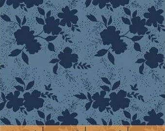 Baby Bedding Crib Bedding - Floral, Blue, Navy, Flowers - Baby Blanket, Crib Sheet, Crib Skirt, Changing Pad Cover, Boppy Cover