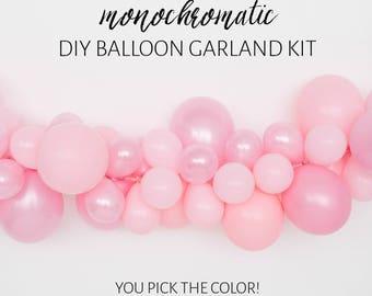 DIY Balloon Garland Kit - Monochromatic Balloon Garland - Pick Your Color!