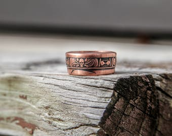 Copper Memento Mori Skull Ring