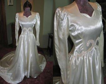 Liquid Satin Gown Etsy