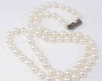 Estate Mikimoto Akoya Cultured Pearls 6mm 18 Inches Beautiful