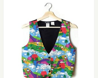 ON SALE Vintage Snoopy Vest from 1980's/Peanuts*