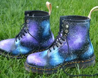 VEGAN Dr Martens, Doc Martens, Galaxy Dr Martens, Custom DMs, Galaxy Boots, Galaxy Shoes, Galaxy DMs, Galaxy Doctor Martens, Nebula Boots