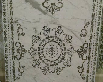 Carved Limestone and marble