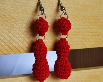 Red Raindrop Earrings