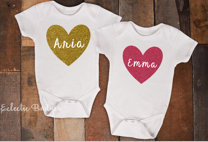 Girls clothing matching name shirts friend tees twin shirts baby gift baby girl outfit negle Image collections