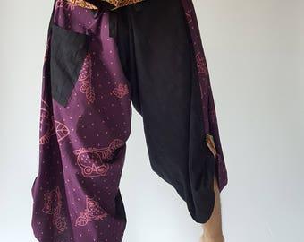 SR0020 Samurai Pants Harem pants have fisherman pants style wrap around waist
