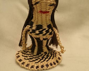 Vintage Indian Doll, Papago Indian Doll, Tohona O'odham, Indian Basket Doll, Papago Indian, Basket Dolls, Arizona Indian Dolls