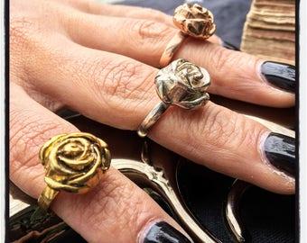 Etherial Sterling Silver Flower Ring Sterling Silver Floral Ring Sterling Silver Summer Flower Ring Rose Ring Roses Ring Summer Flower Ring