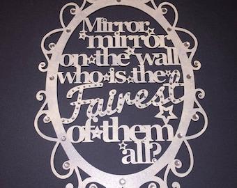 Wall plaque, Mirror Mirror on the wall, Princess Sign, Cinderella,