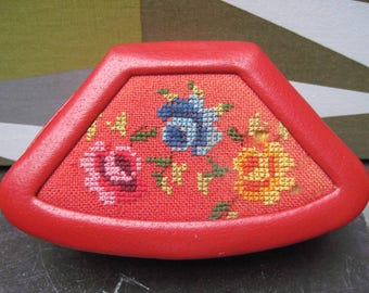 Vintage 70's 80's Tapestry Sewing Box
