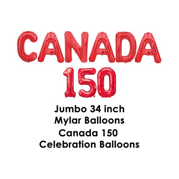 Canada 150 Balloons by RevelryPartyCompany
