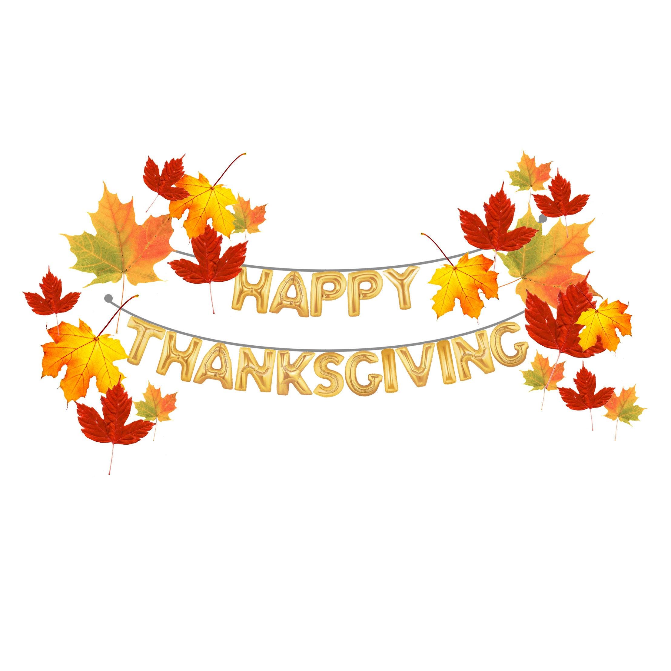 Thanksgiving Banner Balloon 16 Letter HAPPY THANKSGIVING