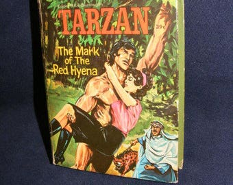 Tarzan Book, Whitman Big Little Book, Edgar Rice Burroughs. 1967, Mark of the Red Hyena
